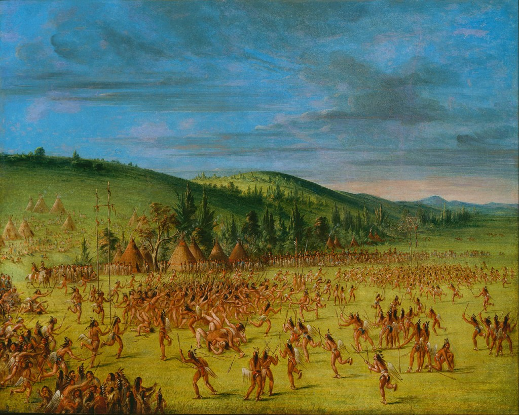 George_Catlin_-_Ball-play_of_the_Choctaw--Ball_Up_-_Google_Art_Project